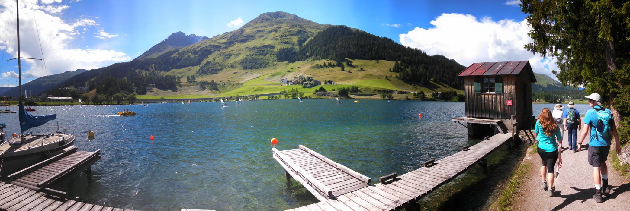 A panorama of Lake Davos
