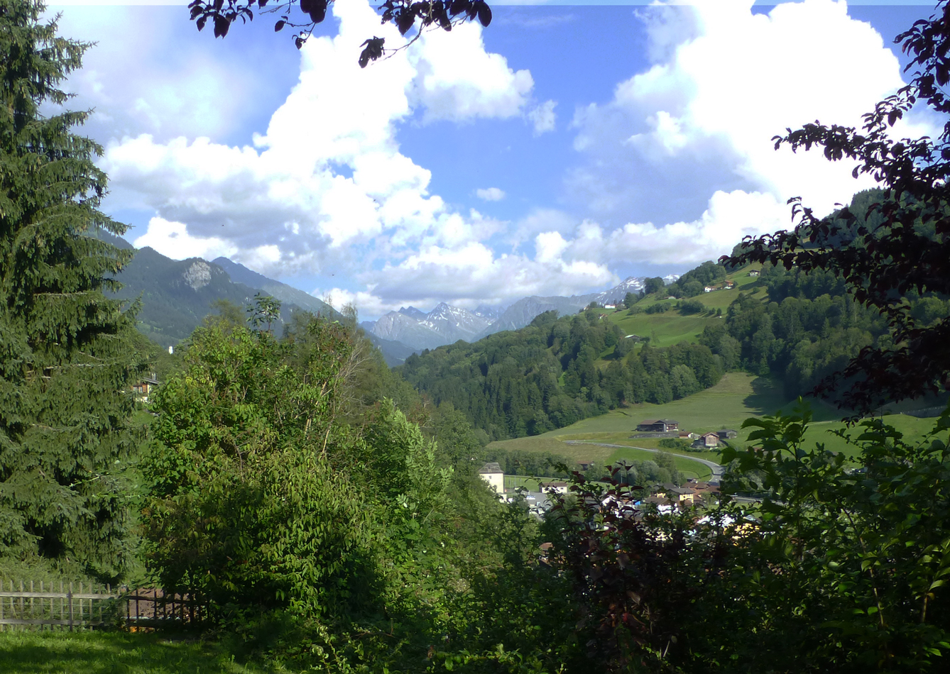 Back at Küblis - A view from the house we were renting.