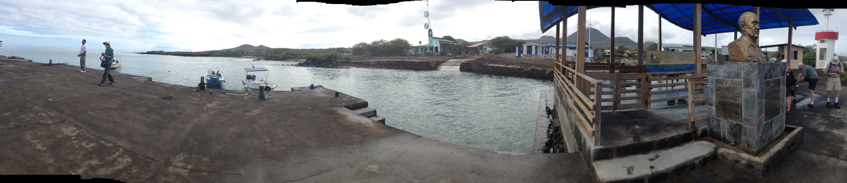 Here is a view of the town from the dock where we landed.