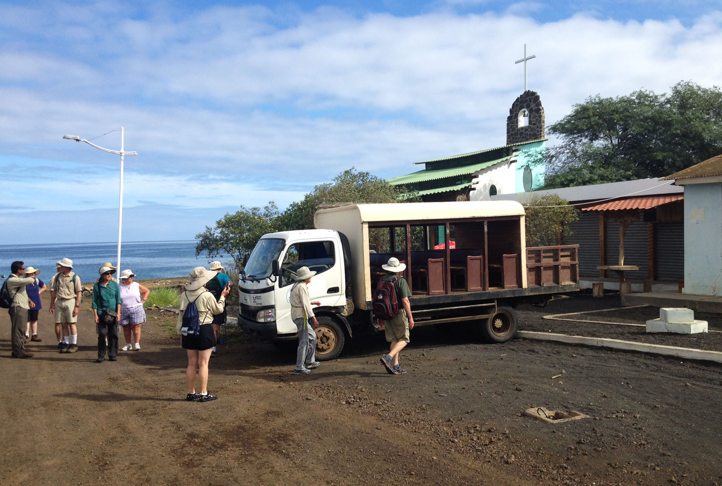 After exploring the coastal area for a while, we boarded this bus and headed to the highlands.