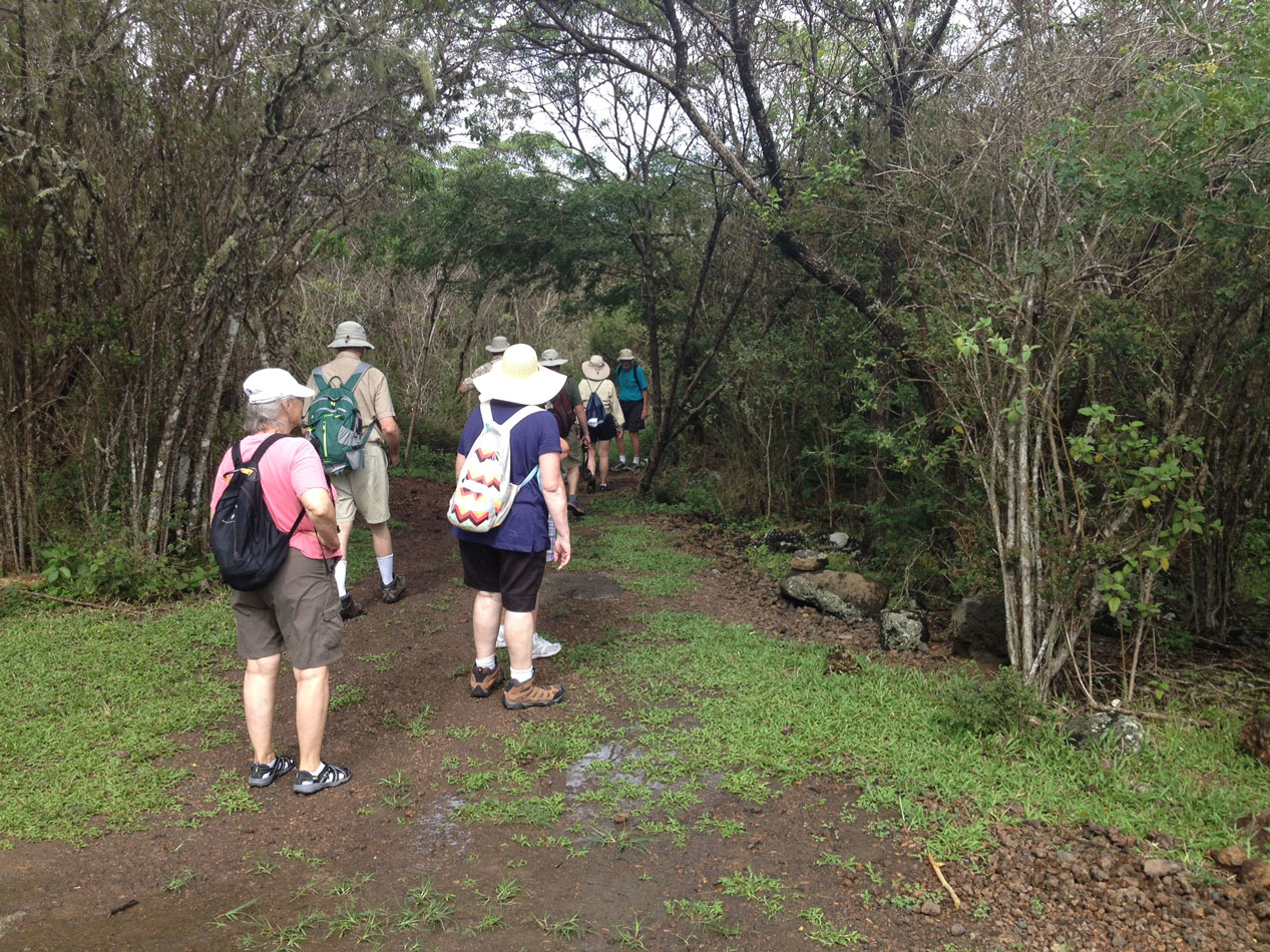 Our group, walking down the trail.