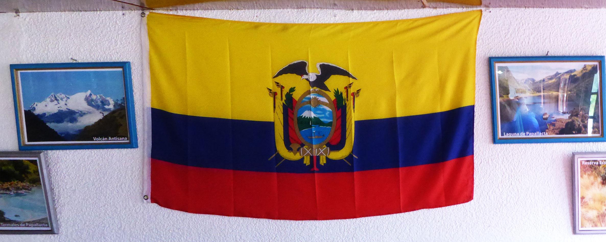 The flag of Ecuador