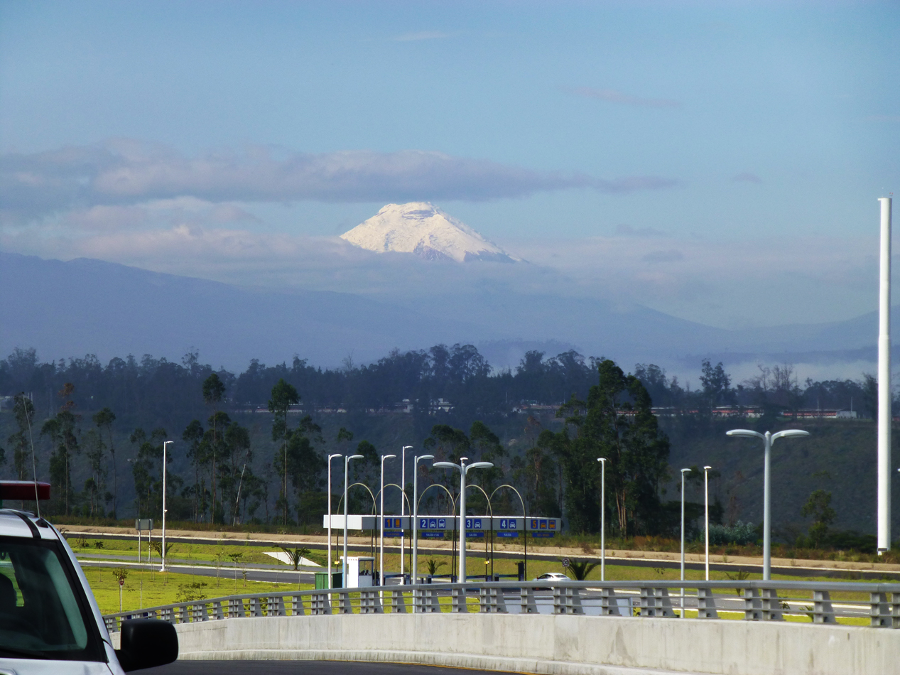 It was a clear day and we could see a nearby volcano