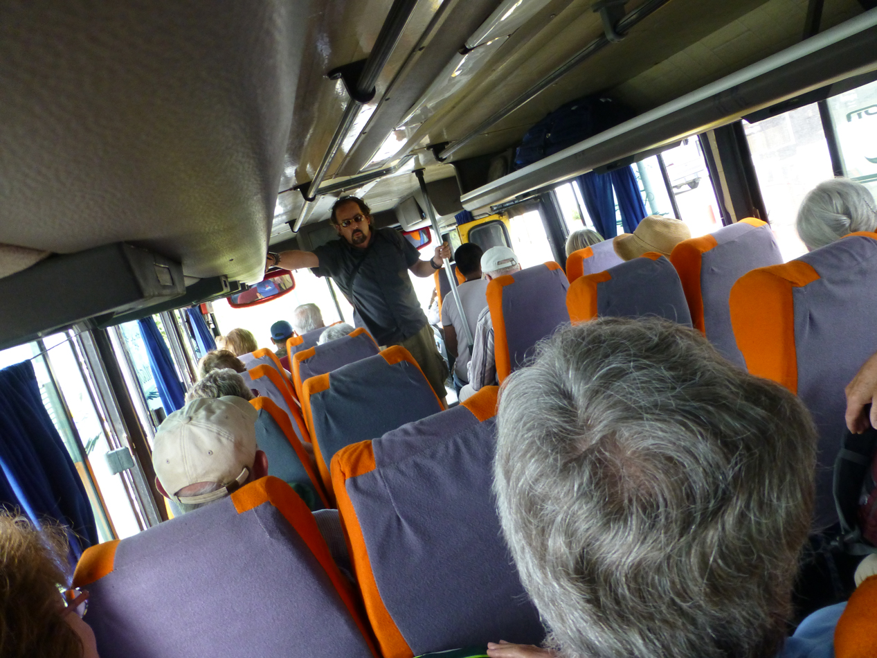 Once in Coca, we boarded a bus