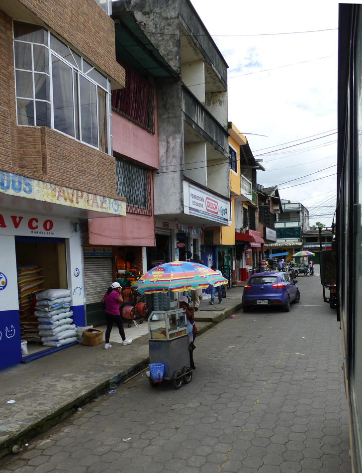 A view of a street in Coca.