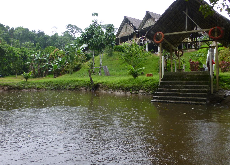 The boat landing at the Yarina Lodge