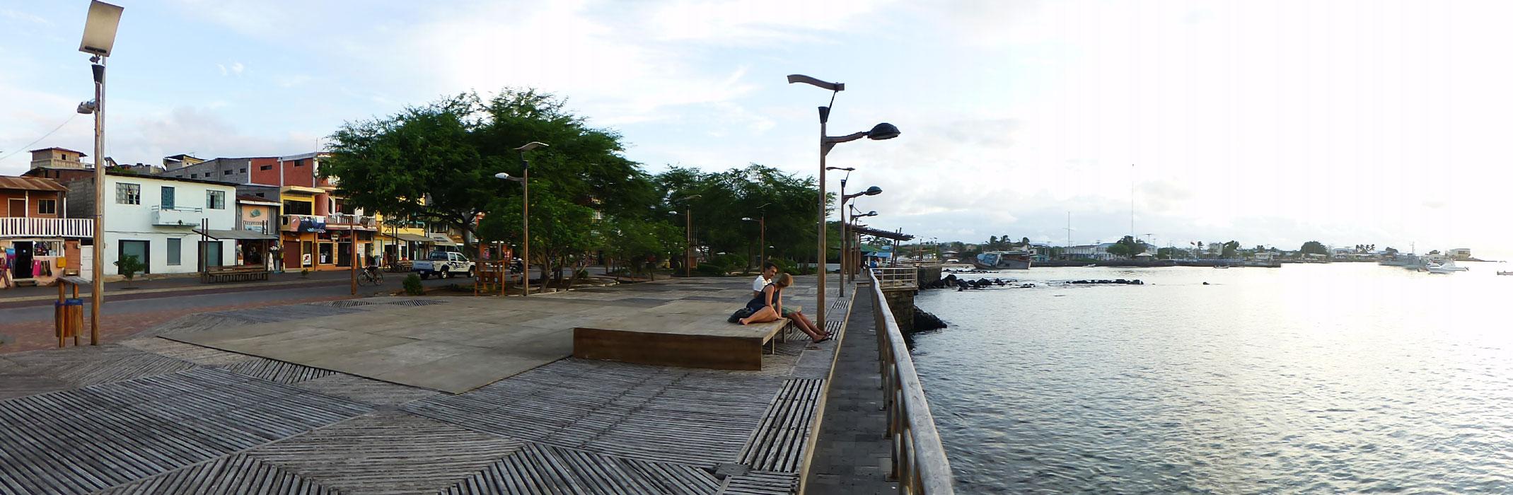The city of Puerto Baquerizo Moreno's waterfront