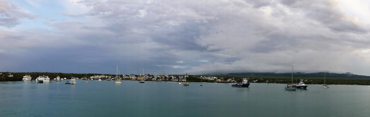 The harbor at Puerto Ayora