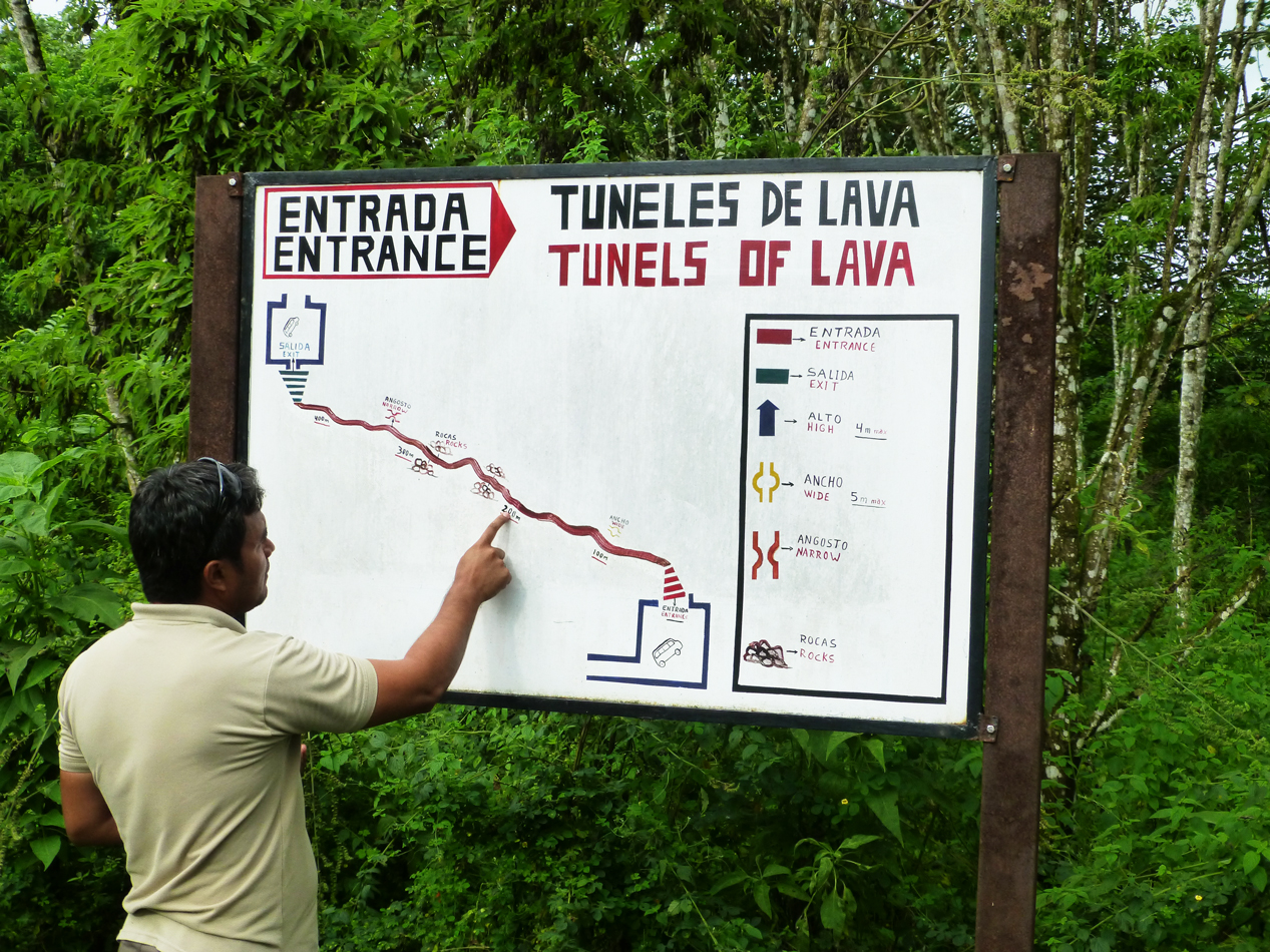 A map showing the extent of the lava tunnel