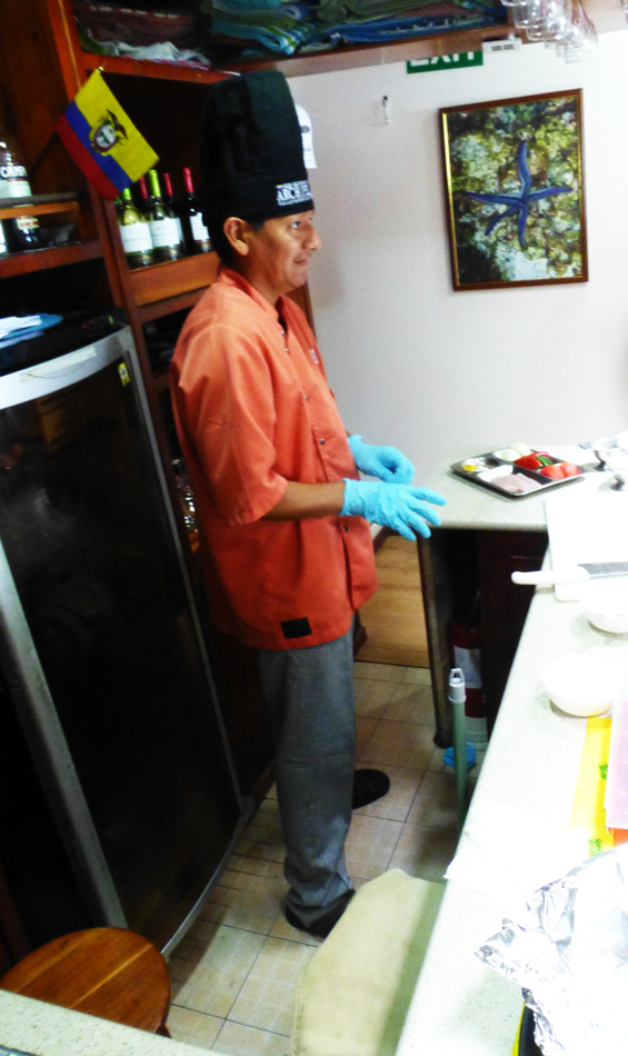 Our chef, Alex showing us how to make ceviche