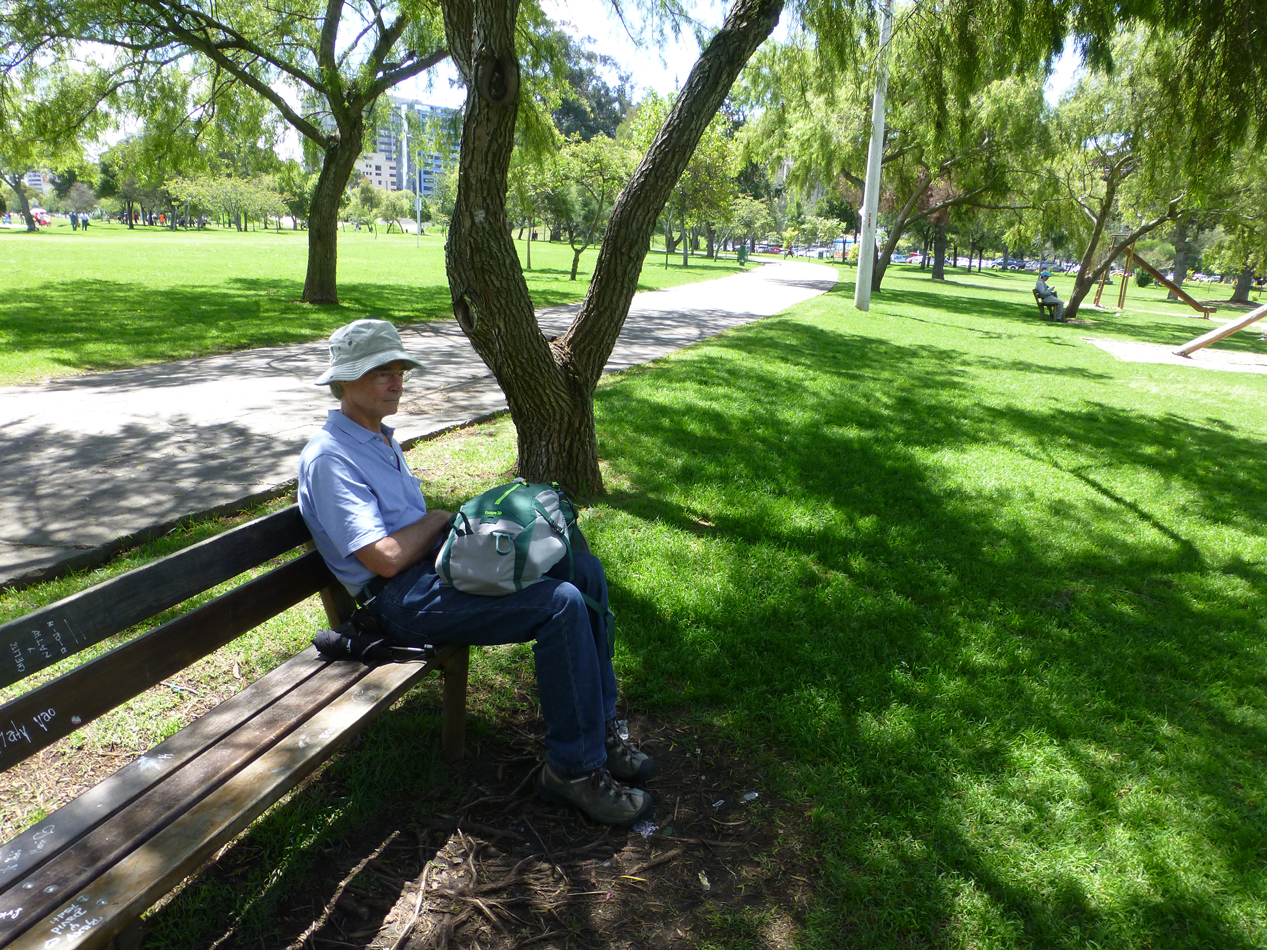 Peter in the Parque La Carolina