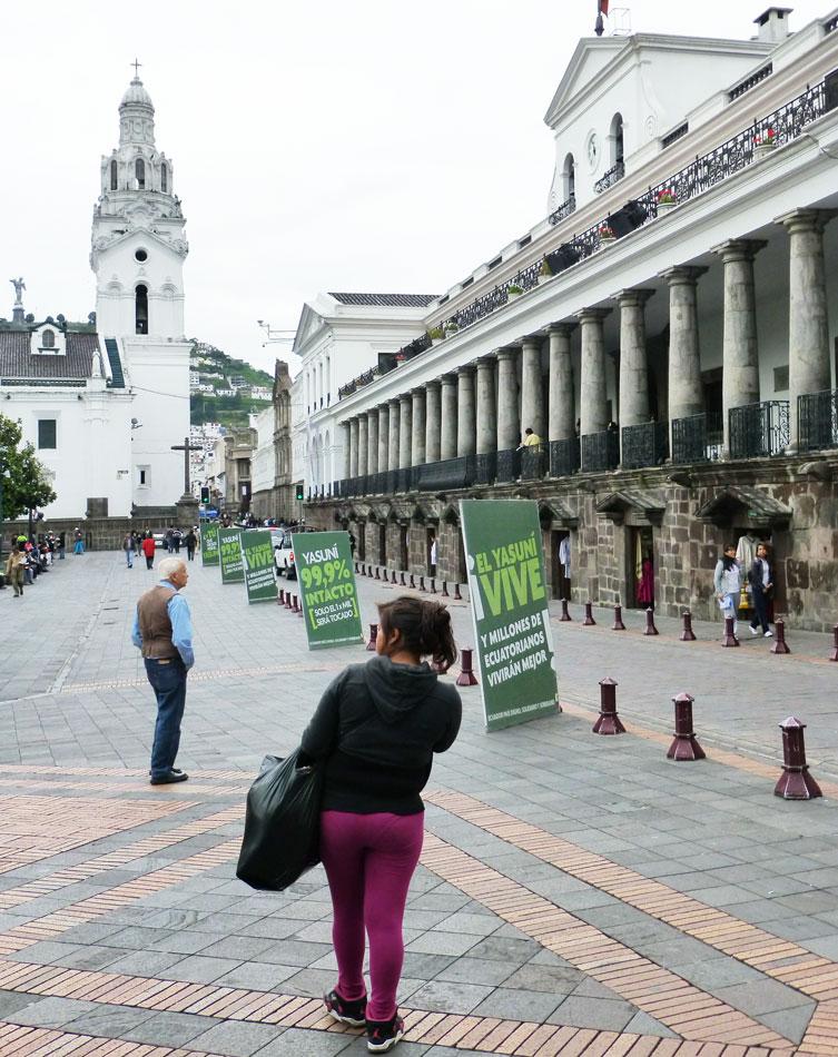 Quito's central square