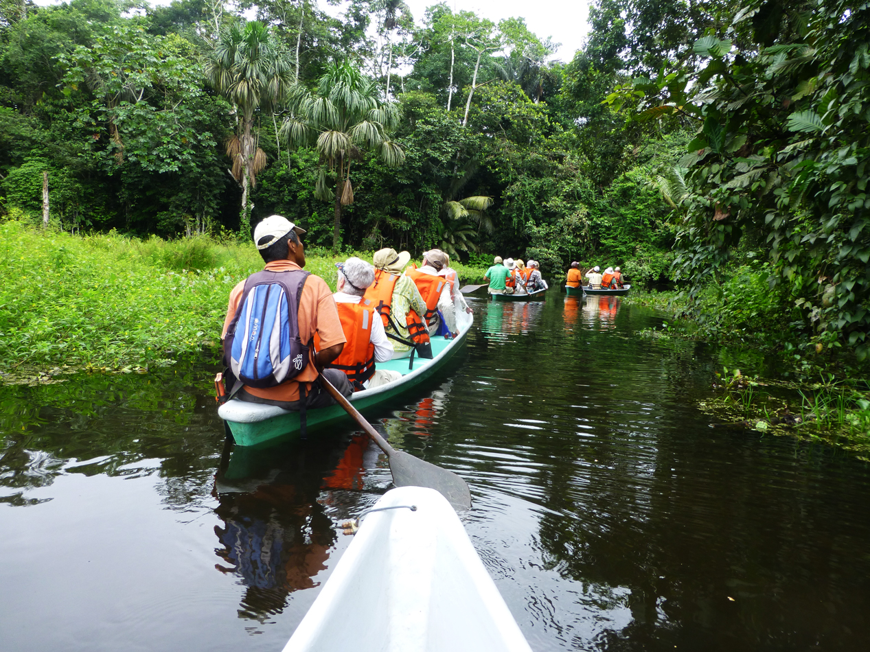 Another view of our group in canoes