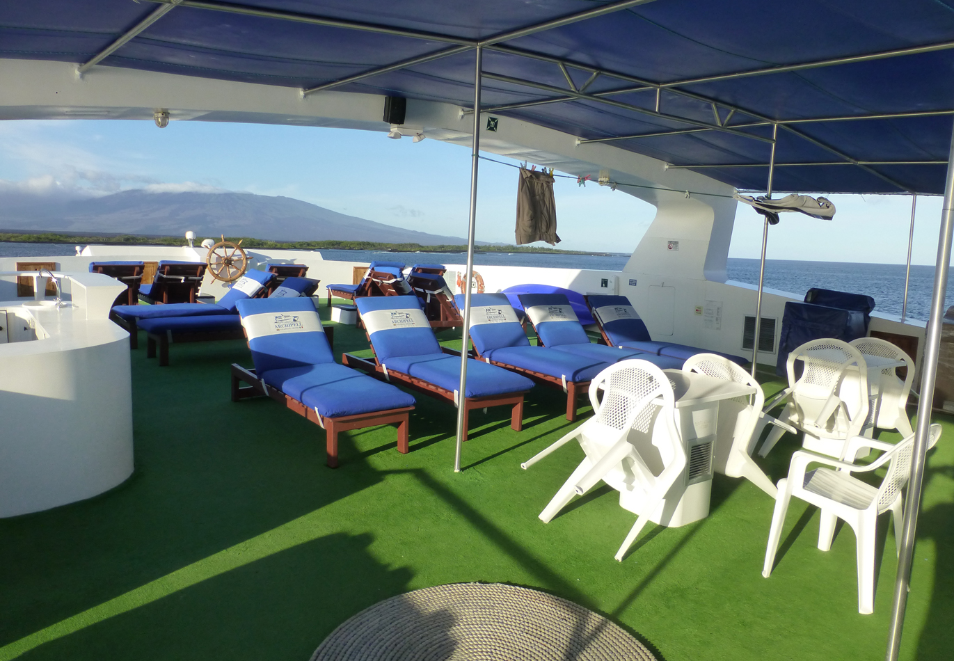The deck of our boat.