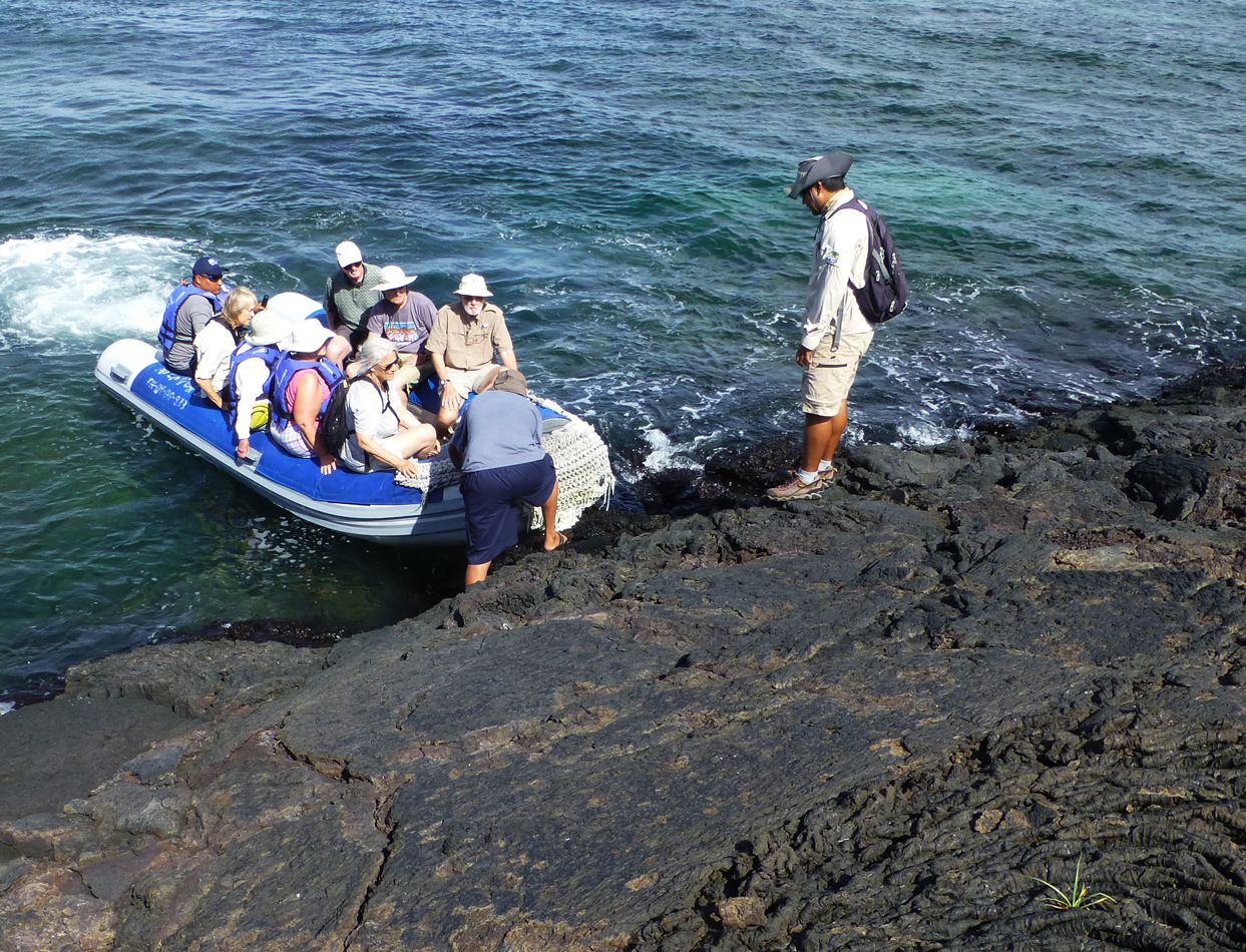 Our group coming ashore.